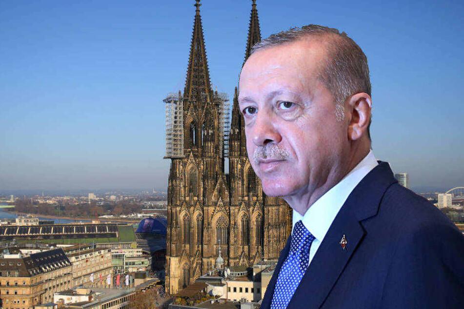 In Köln will sich Präsident Erdogan auch mit Deutschtürken treffen.