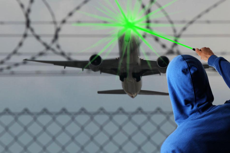 Der Unbekannte blendete den Piloten einer A320 im Landeanflug. (Symbolbild)
