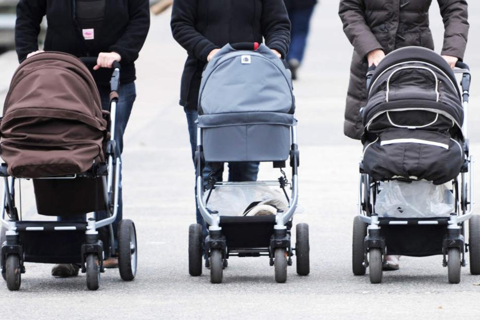 Immer mehr Kinderwagen wie diese sind in Thüringen zu sehen. Dennoch nimmt die Einwohnerzahl ab. (Symbolbild)