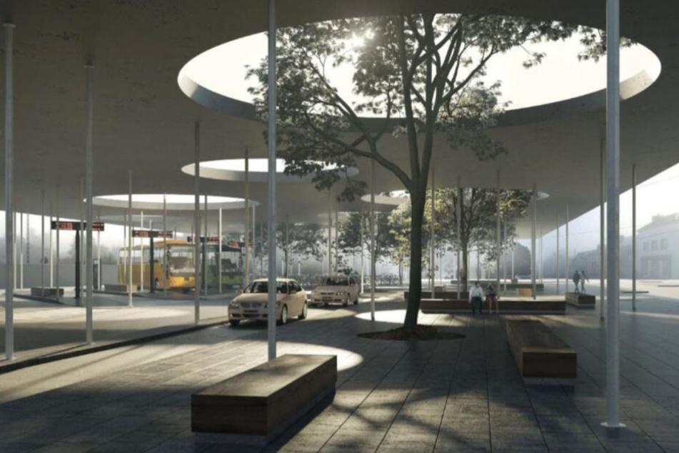 So könnte der Bahnhofsvorplatz aussehen. Erst muss die Stadt aber den Tunnel unterm Bahnhof bauen. 2020 soll er fertig sein.