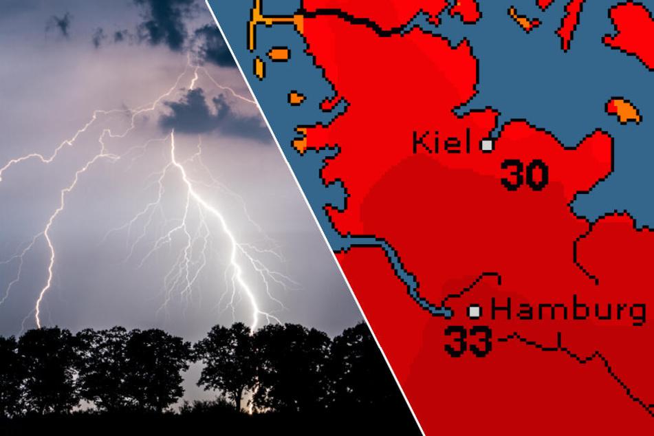 Gewitter, Starkregen, Hagel und Sturm: Unwetter richtet Schäden an!