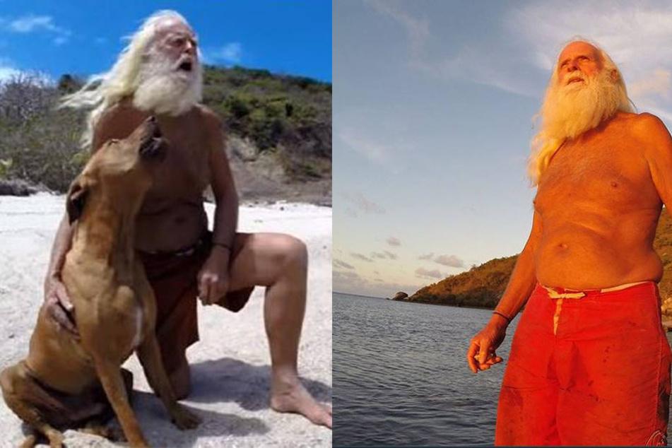 Dieser Mann lebt wie Robinson Crusoe auf einer einsamen Insel