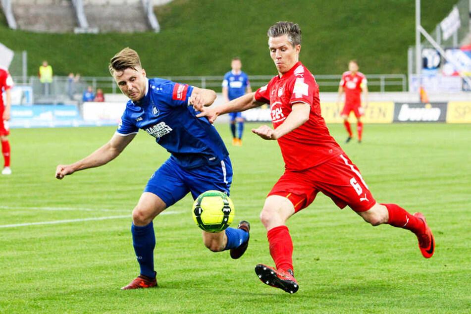 Christoph Göbel (r.) verlässt den FSV Zwickau nach sechs Jahren.