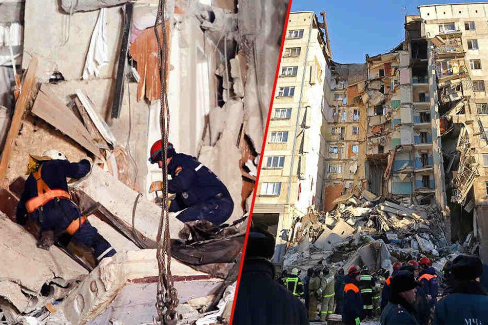 Gasexplosion in Russland: Zahl der Toten steigt, 37 Bewohner vermisst