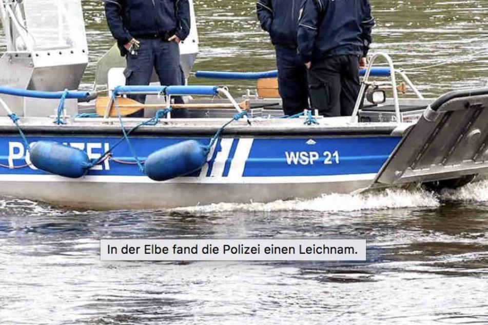 Polizei findet Auto am Grund der Elbe. Darin sitzt eine Leiche
