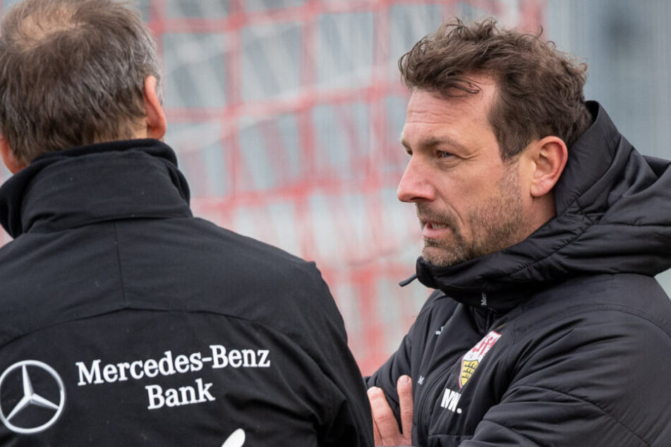 VfB-Coach auf Bewährung: Markus Weinzierl beim Training.
