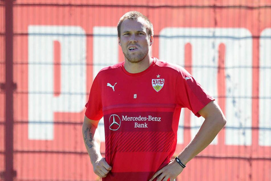 Kevin Großkreutz im Trainingsdress von Stuttgart.