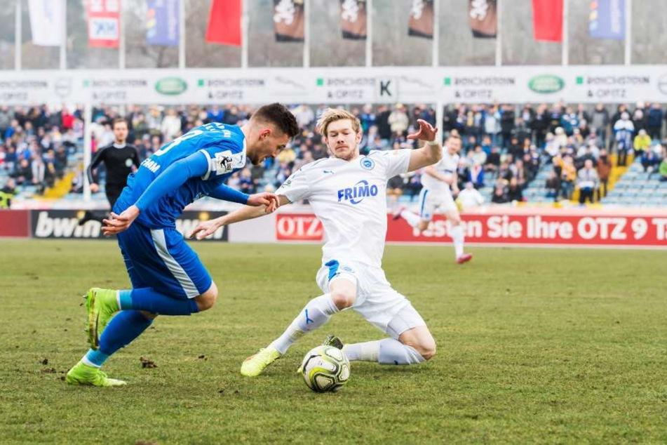 Gegen die Sportfreunde aus Lotte reichte es für Jena nur für einen Punkt.