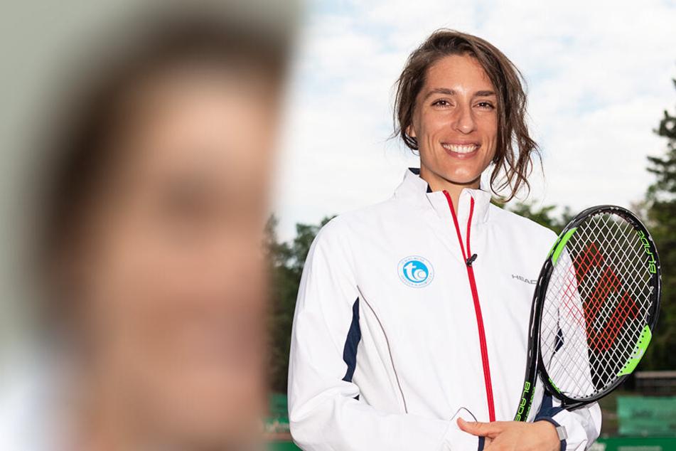Andrea Petkovic kam am Mittwochabend nach Dresden, wurde am Donnerstag auf einer Pressekonferenz präsentiert.