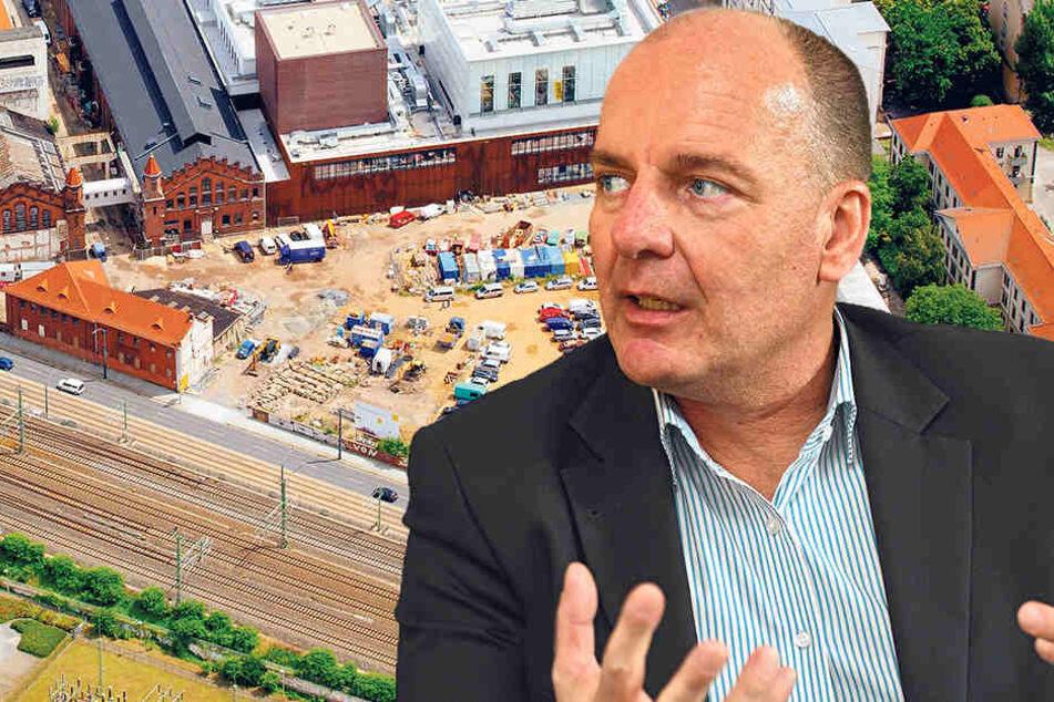 Plant für den Grundstückseigentümer DREWAG die weiteren Bauarbeiten: Prokurist Frank Neuber (54).