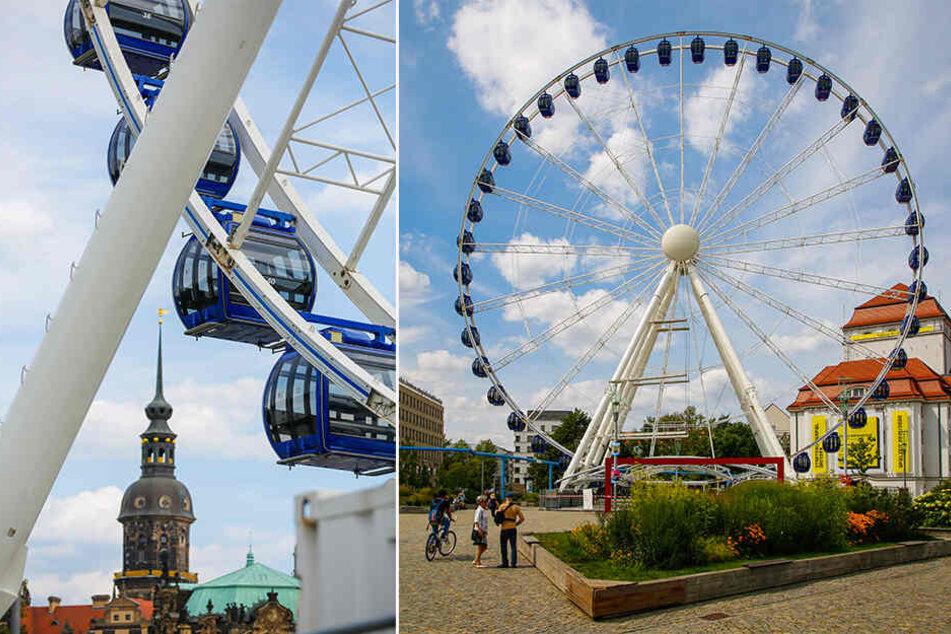 Eine Woche vorm Stadtfest: Gondeln für das Riesenrad