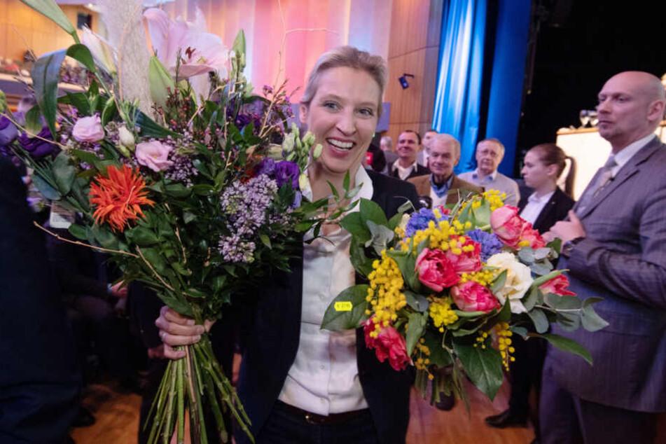 AfD-Sonderparteitag am 15. Februar in Böblingen: Alice Weidel wird zur Landesvorsitzenden gewählt.