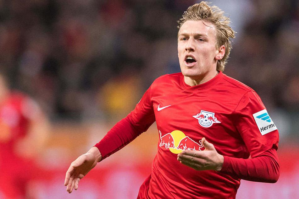 Nach seiner Rot-Sperre wird Nico Forsberg den RB beim Spiel gegen den HSV wieder unterstützen.