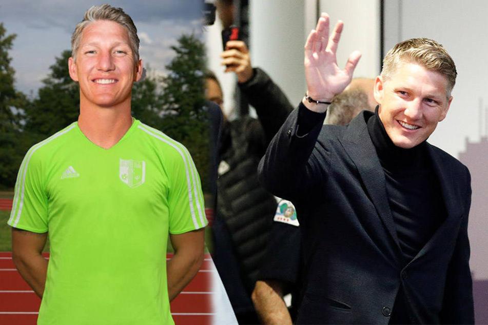 Die SG Buna Halle-Neustadt hat Bastian Schweinsteiger am PC schon mal ein Trikot verpasst (l.).