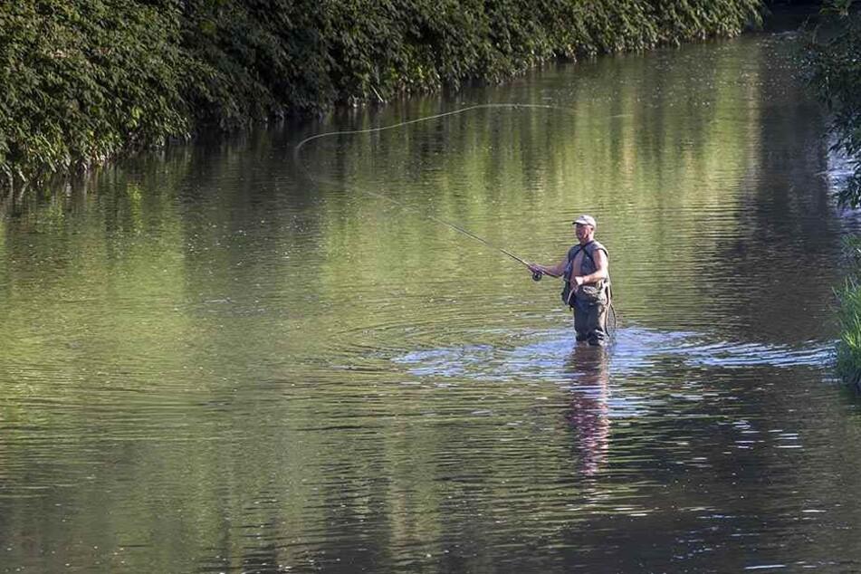 Die Chemnitz ist ein bei Anglern beliebtes Fischgewässer.