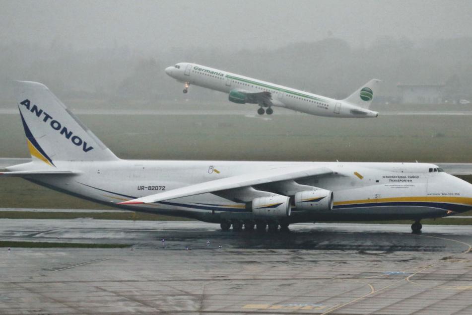300-Tonnen-Flieger ist in Düsseldorf gelandet