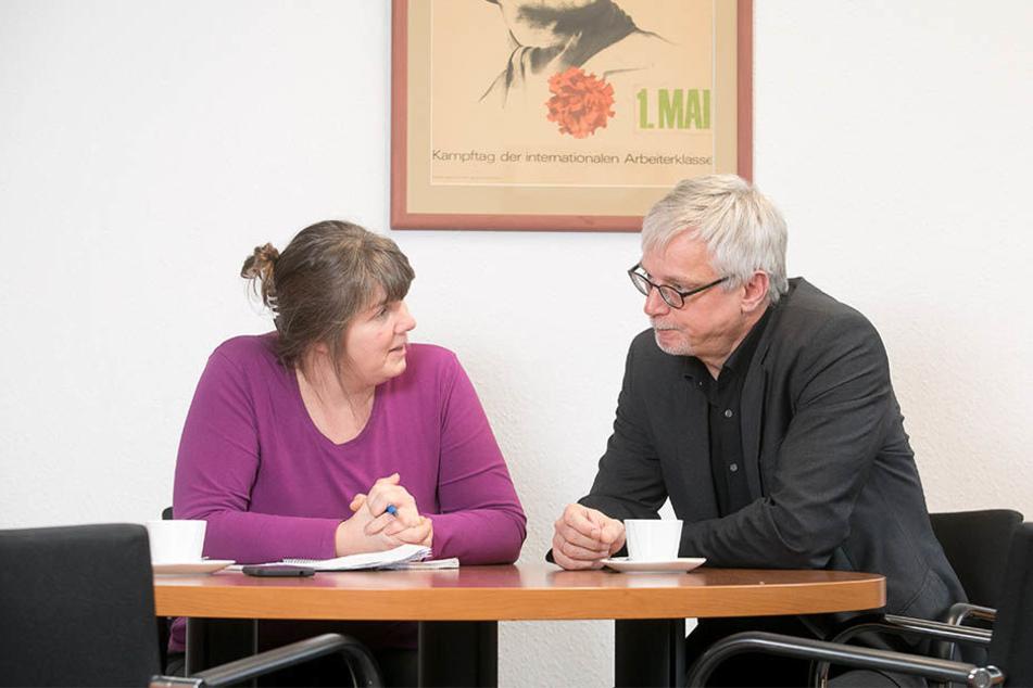 Schlimbach im Gespräch mit Morgenpost-Redakteurin  Pia Lucchesi.