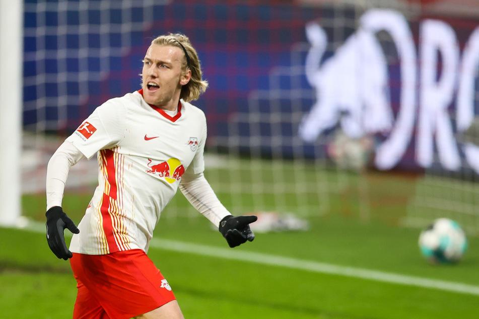 Emil Forsberg (29) hat bisher viermal gegen Leverkusen getroffen, fehlt nun aber wegen einer Knieverletzung. (Archivbild)