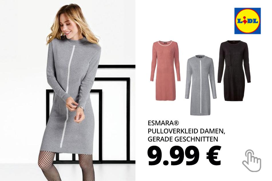 ESMARA® Pulloverkleid Damen, gerade geschnitten