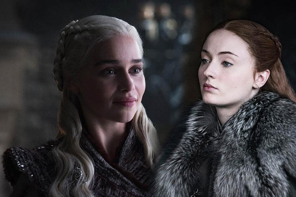 Daenerys Targaryen (l., Emilia Clarke) und Sansa Stark (Sophie Turner)haben einen schwierigen Start. (Bildmontage)