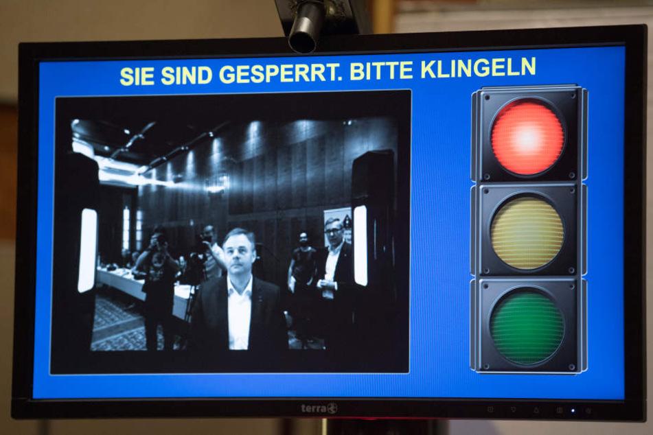 Eine Simulation wie zukünftig eine biometrische Zugangskontrolle aussehen könnte.