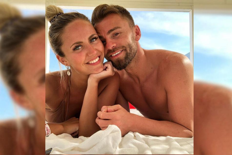 Ex-Bachelor-Kandidatin Lina Kolodochka zeigt sich mit ihrem neuen Freund Erdem Özgenc.