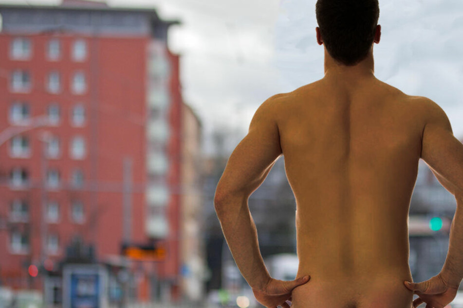 Der Nackte war auf der Annaberger Straße unterwegs. (Bildmontage)