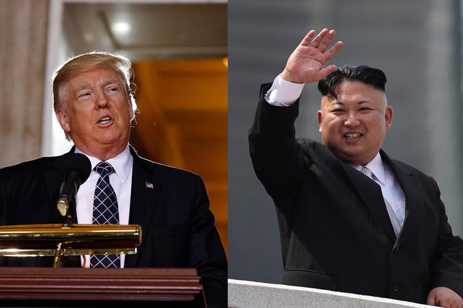US-Präsident Donald Trump und der Nordkoreanische Machthaber Kim Jong Un.