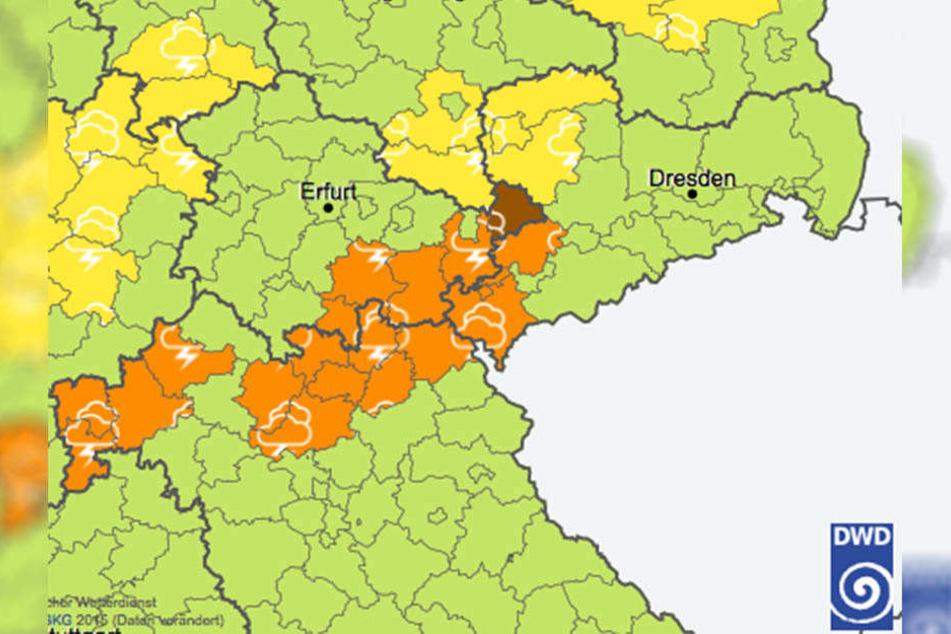 Betroffen sind die Landkreise Zwickau, Vogtland, Leipzig und Nordsaschsen.