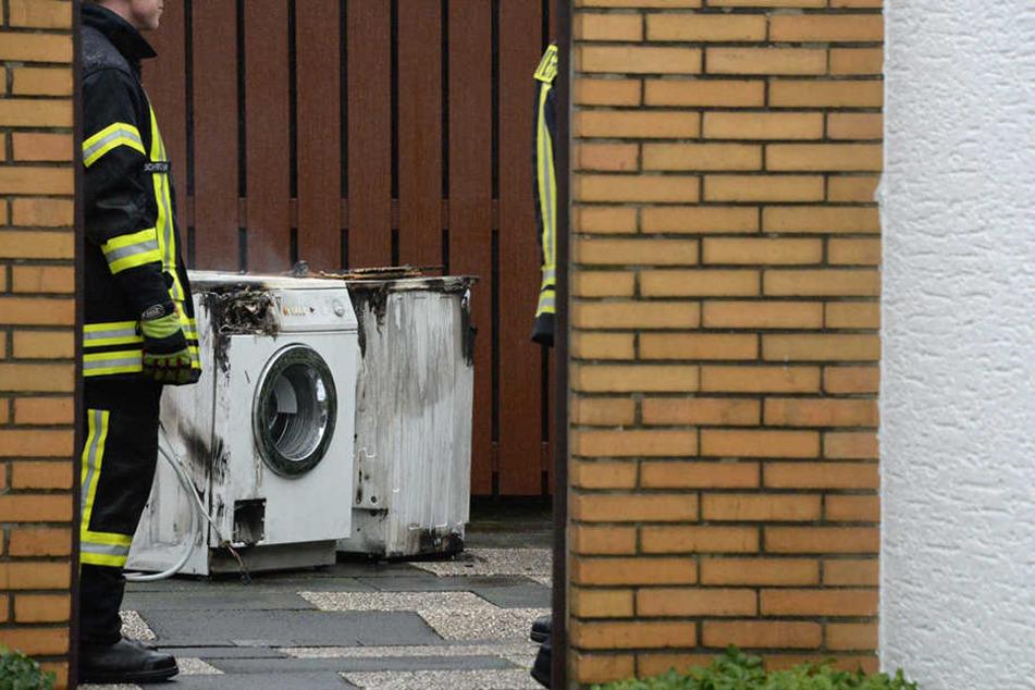 Der Trockner und die Waschmaschine haben im Keller einen Brand ausgelöst.