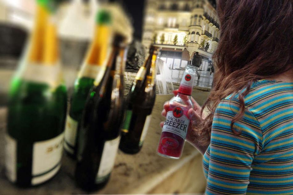 Über die Menge und Herkunft des Alkohols wollte sich die junge Frau nicht äußern. Sie litt im weiteren Verlauf der Behandlung unter erheblichen Stimmungsschwankungen. (Bildmontage)