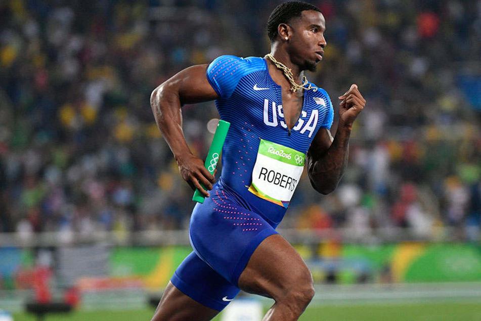 Mit der Staffel holte sich 400-Meter-Läufer Gil Roberts Gold. Er kommt nun um eine Dopingsperre drumherum.
