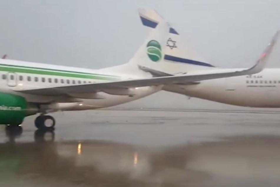 Schock für Passagiere: Germania-Maschine kracht in anderes Flugzeug