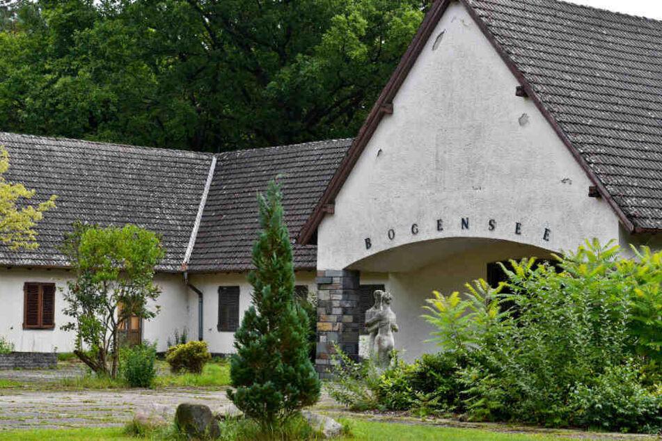 Bogensee: Blick auf den ehemaligen Landsitz von NS-Propagandaminister Josef Goebbels auf dem Gelände der früheren FDJ-Hochschule in Bogensee nahe Wandlitz (Brandenburg).