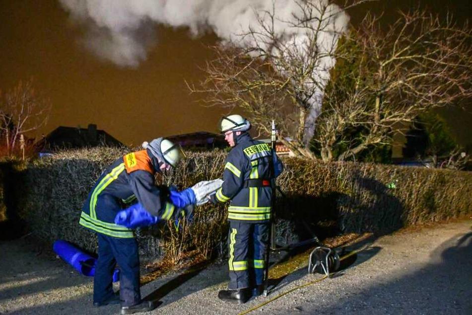 Knapp eineinhalb Stunden nach dem ersten Brand brach in der Gartensiedlung ein zweites Feuer aus.