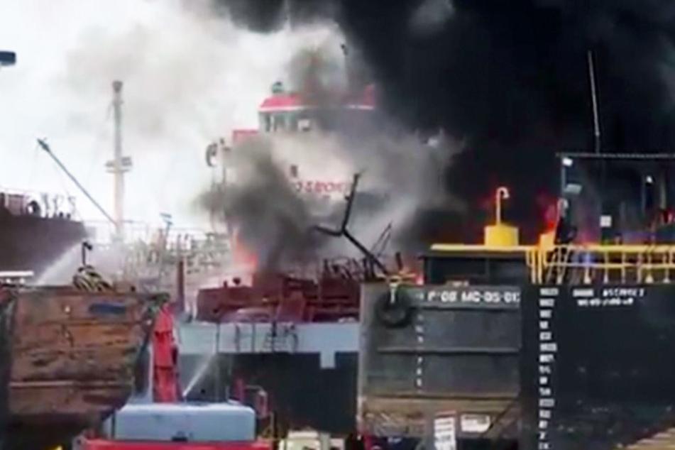 Explosionen bei Wartungsarbeiten in Schiffswerft: Sechs Tote