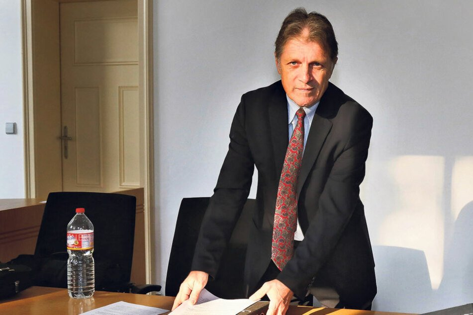Ex-MZ-Chef Martin Wimmer (58) am  Landgericht Chemnitz.