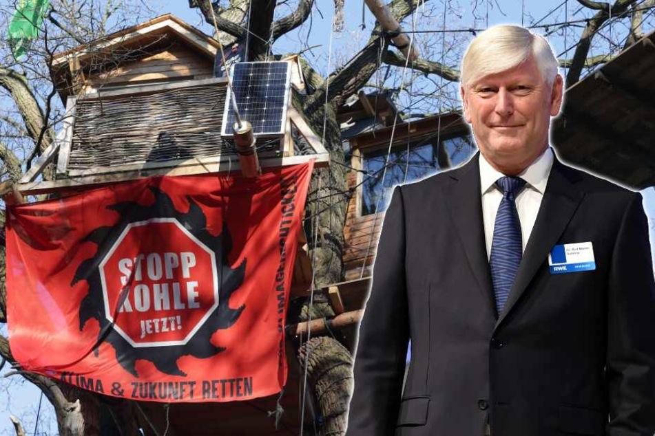 RWE-Chef fordert Abzug der Aktivisten aus dem Hambacher Forst