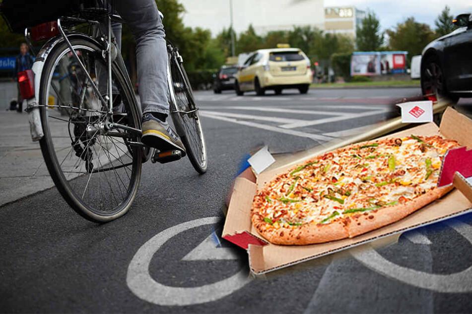 Der Radfahrer schlug zunächst auf das Auto des Lieferanten ein, dann auf den Pizzaboten selber. (Symbolbild)