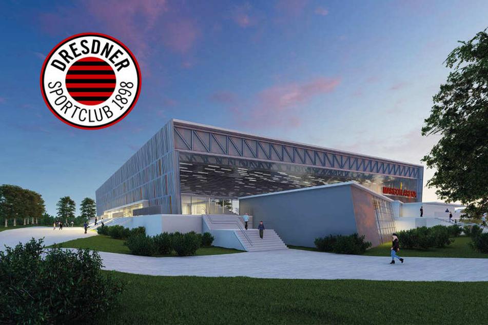 Sieht so die neue DSC-Halle aus? Sponsoren setzen Impuls