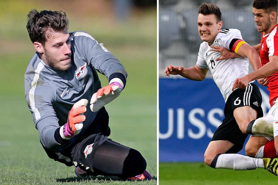 Marius Müller (l.) und Gino Fechner wechselten zur aktuellen Saison von Leipzig nach Kaiserslautern. Schon am ersten Spieltag sahen sie unschöne, an sie adressierte Plakate.