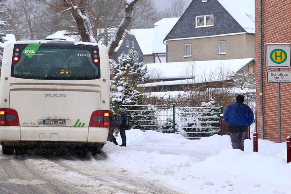 Schon am Mittag konnten die Schüler in Lauter-Bernsbach wieder nach Hause fahren.