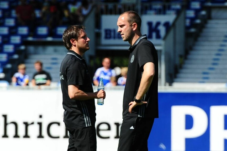 Hannes Drews (l.) im Vorjahr zusammen mit Ole Werner als doppelte Interimslösung.