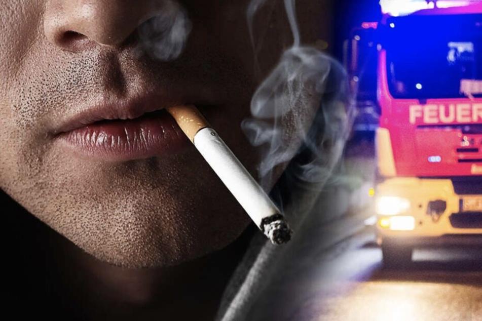 Der Mann hatte eine Zigarette geraucht und mit Hygieneartikel um sich gesprüht.