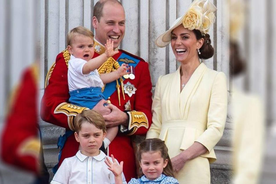 Prinz William und Herzogin Kate (37) haben drei Kinder: Prinz George (5), Prinzessin Charlotte (4) und Prinz Louis (1).