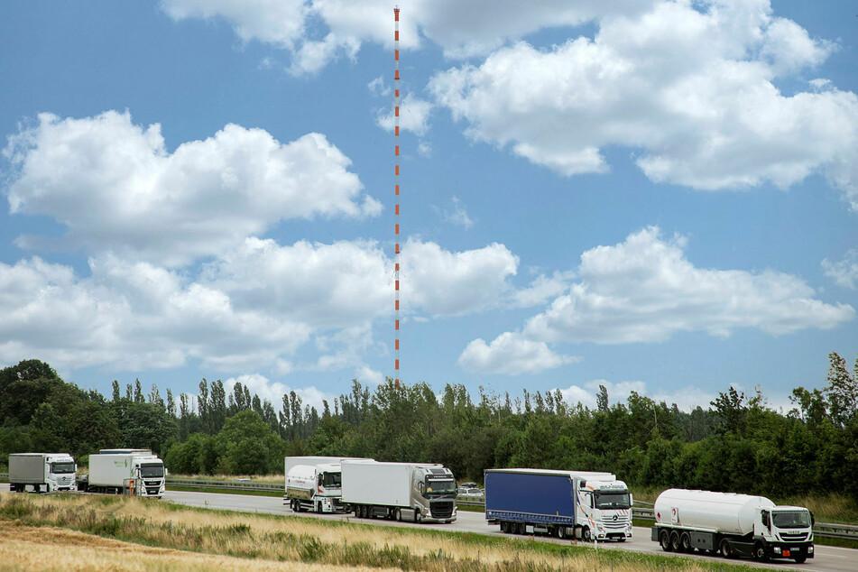 Der Funkturm bei Wilsdruff wird am Sonntag gesprengt, weshalb die angrenzende A4 gesperrt werden muss.