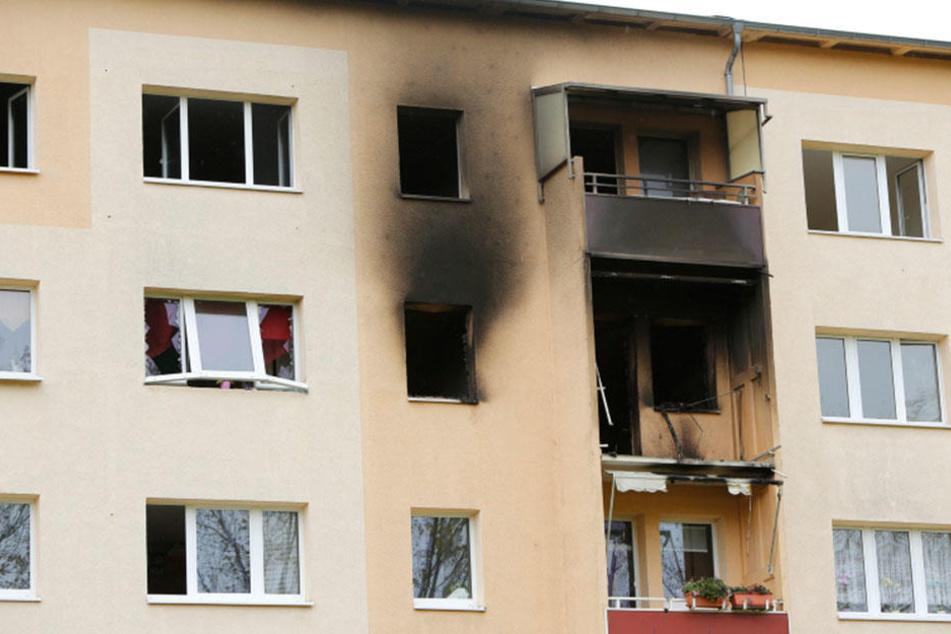 Unbewohnbar: Die Explosion zerstörte die Wohnung in dem Leipziger Plattenbau.