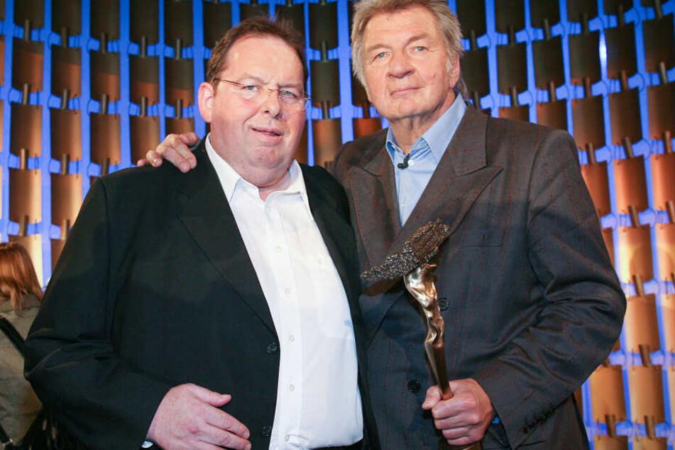 Schneyder mit Kabarettisten-Kollege Ottfried Fischer (li).