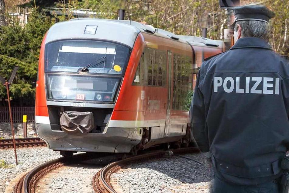 Auf der Zug-Strecke nach Zwickau wurde ein Mann gegenüber seiner Frau ausfällig.