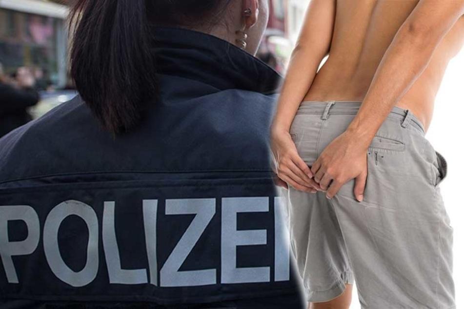 Viel Wind um Nichts gab es wegen zwei Pupsen, die einem Mann neben einer Polizistin entwichen. (Bildmontage)